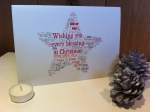 Personalised Custom Christmas Greetings Card with a Christian  theme